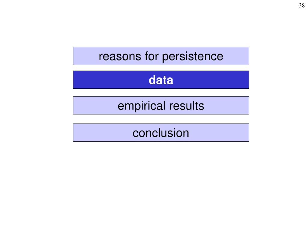 reasons for persistence