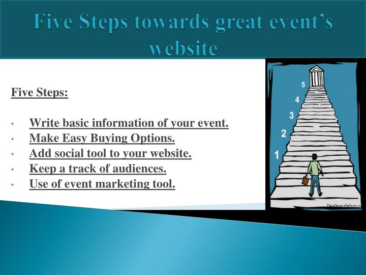 Five steps towards great event s website