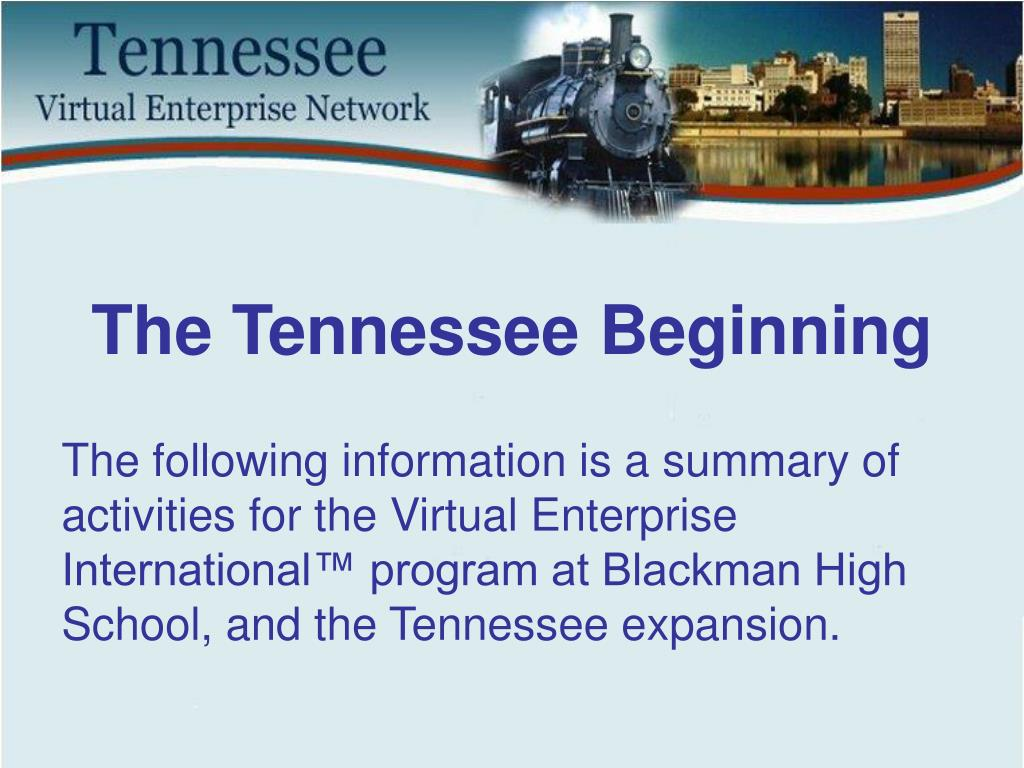 The Tennessee Beginning