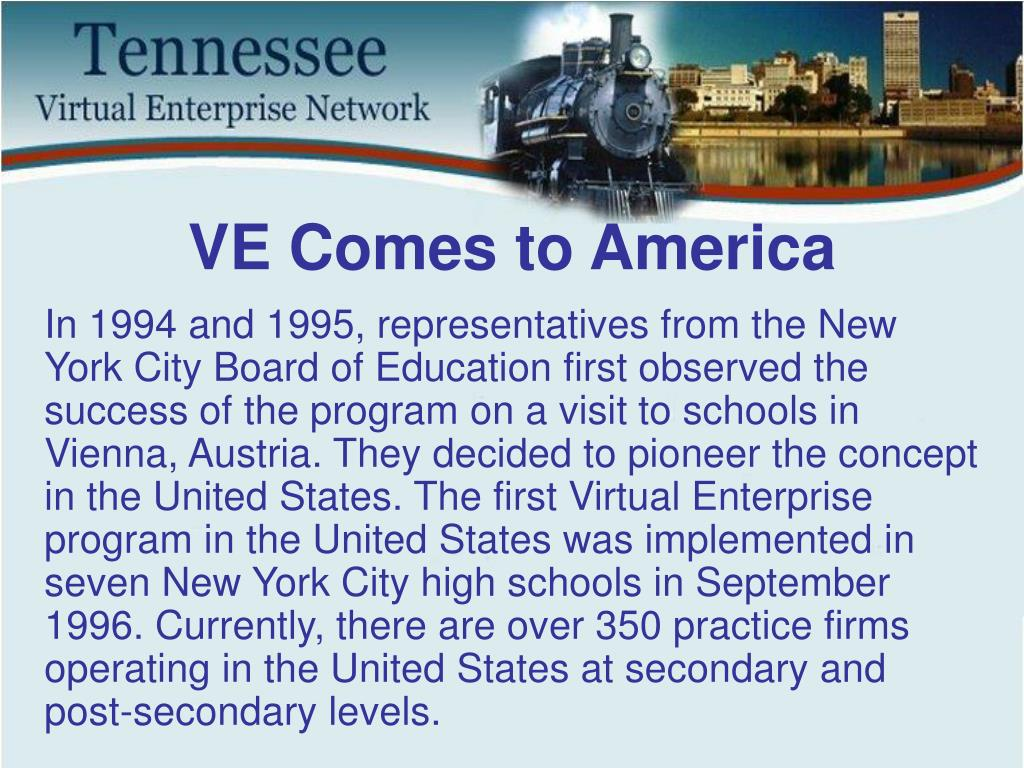 VE Comes to America