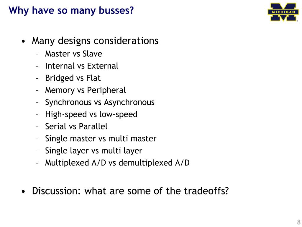 Why have so many busses?