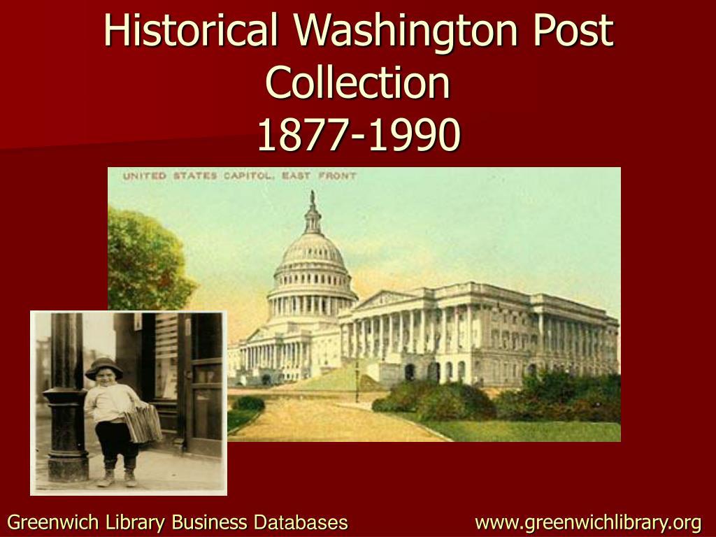 Historical Washington Post Collection