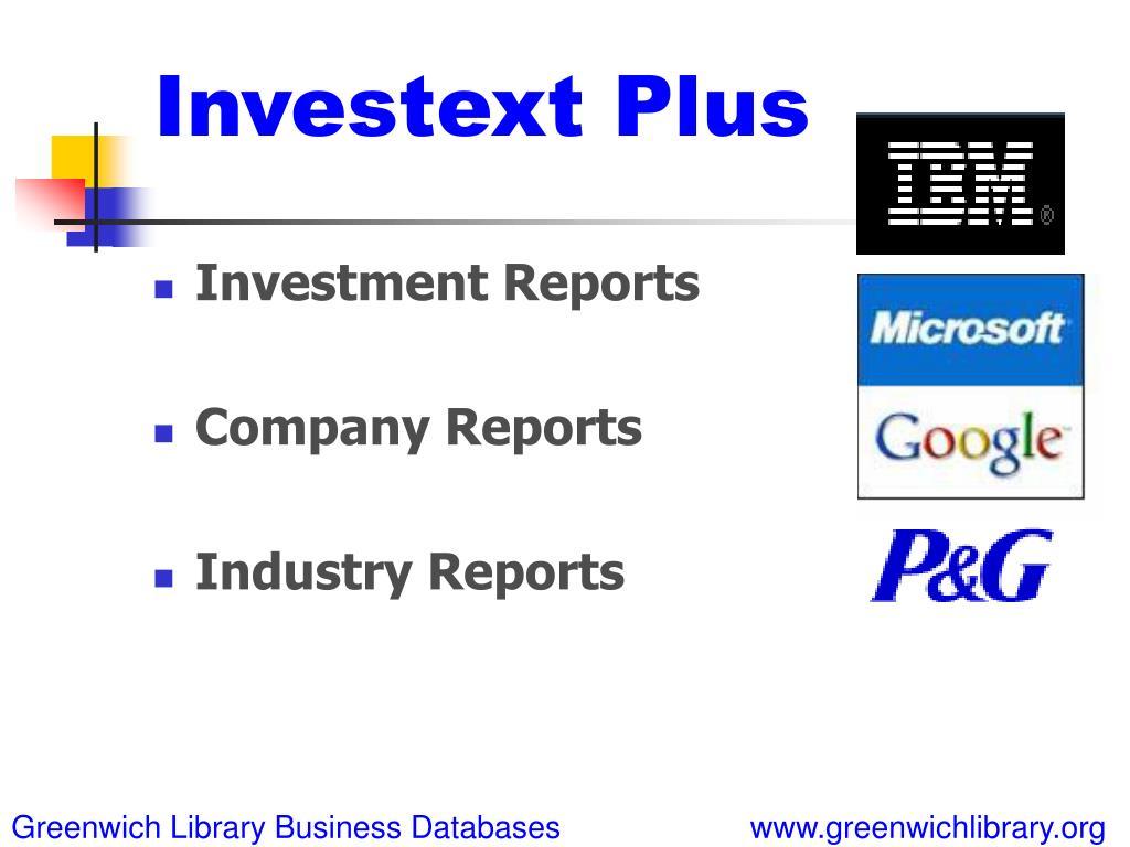 Investext Plus