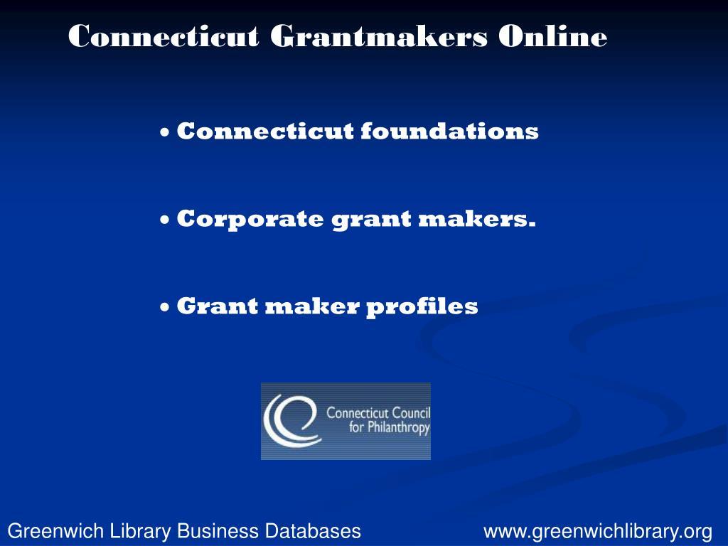 Connecticut Grantmakers Online
