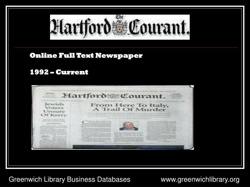 Online Full Text Newspaper