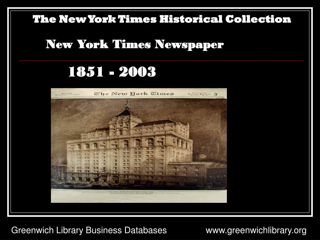 The New York Times Historical Collection