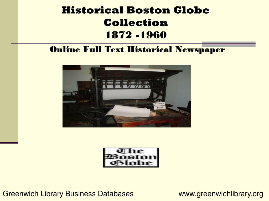 Historical Boston Globe Collection