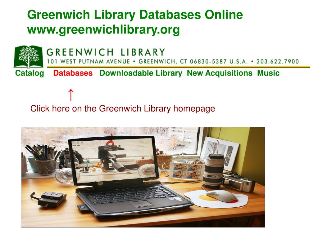 Greenwich Library Databases Online
