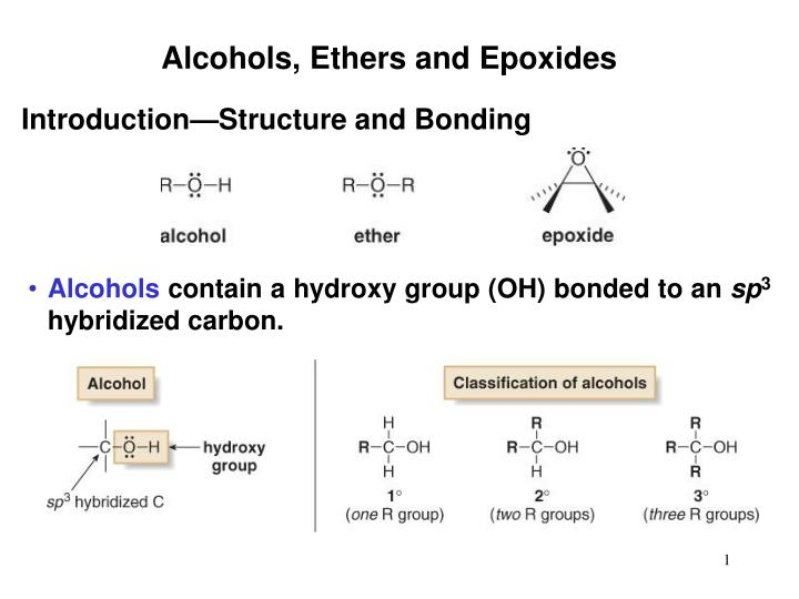 Alcohols, Ethers and Epoxides