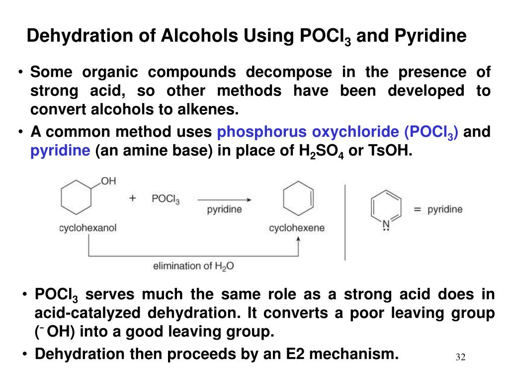 Dehydration of Alcohols Using POCl