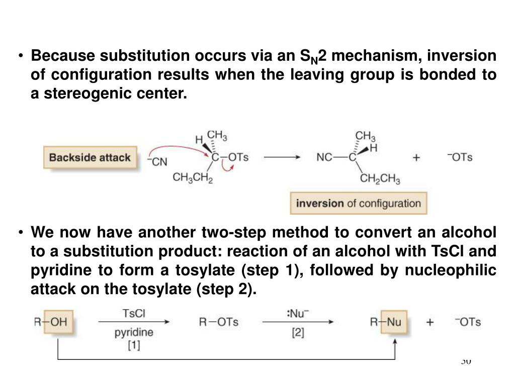 Because substitution occurs via an S