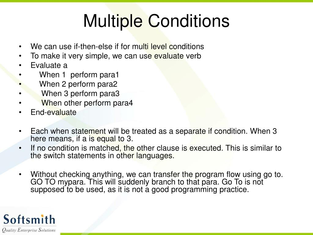 Multiple Conditions