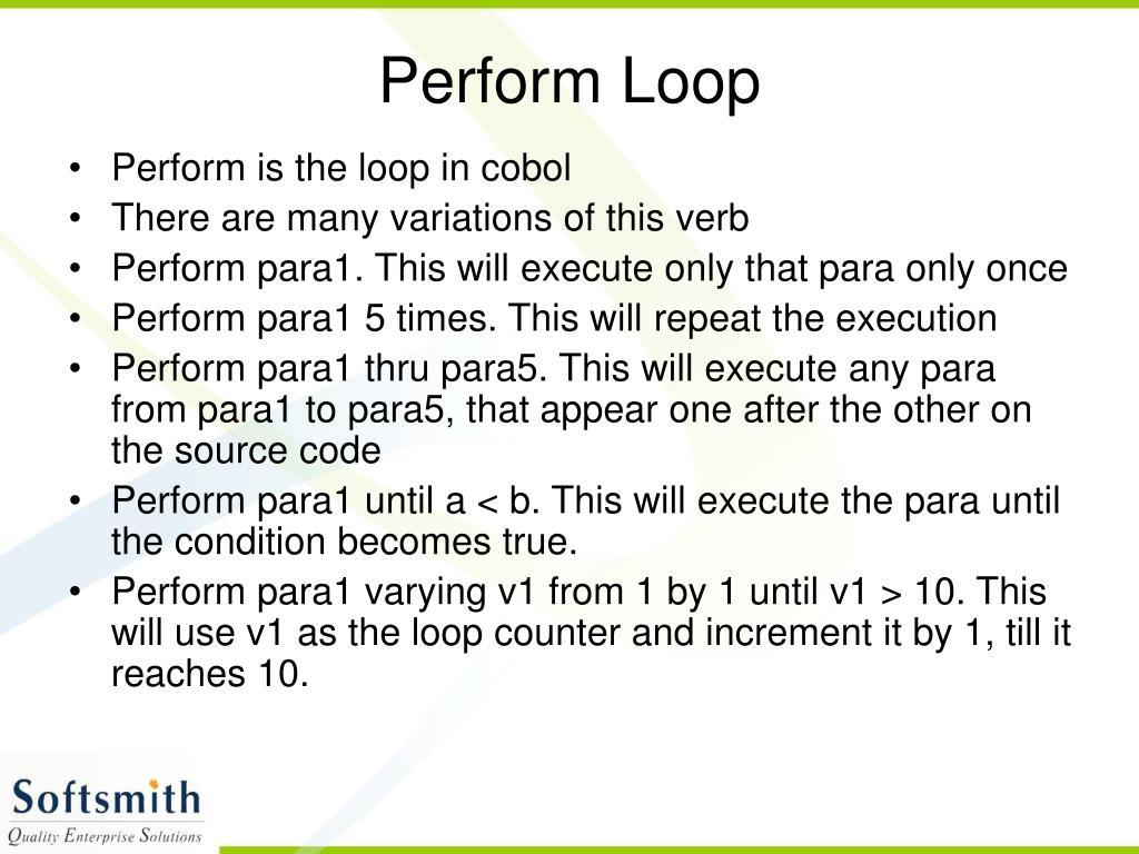 Perform Loop