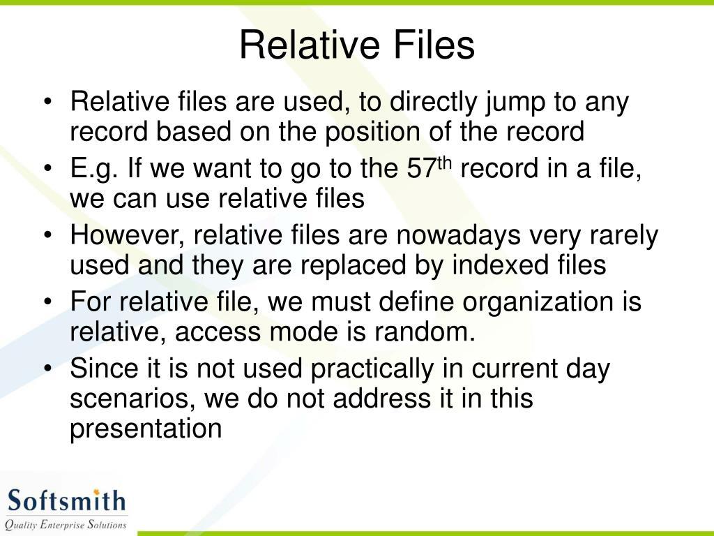 Relative Files