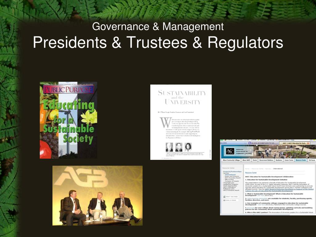 Governance & Management
