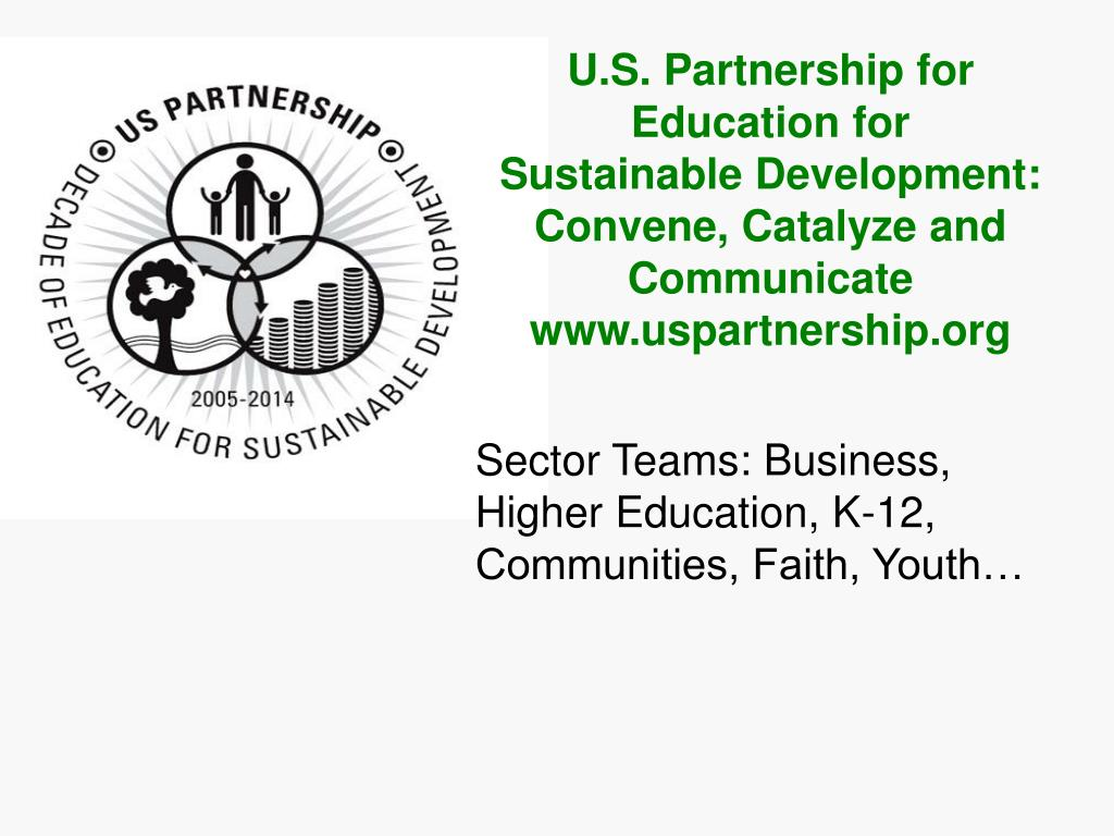 U.S. Partnership for Education for               Sustainable Development: