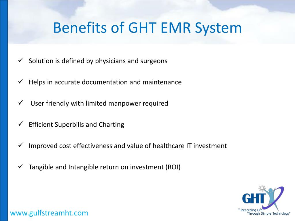 Benefits of GHT EMR System