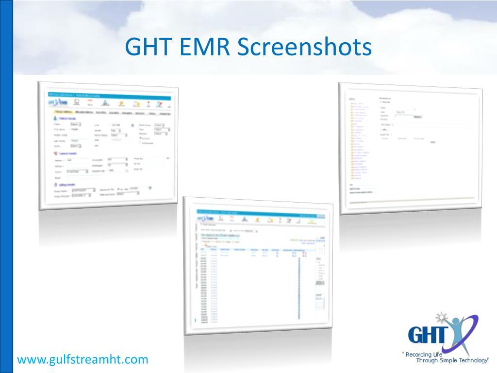 GHT EMR Screenshots