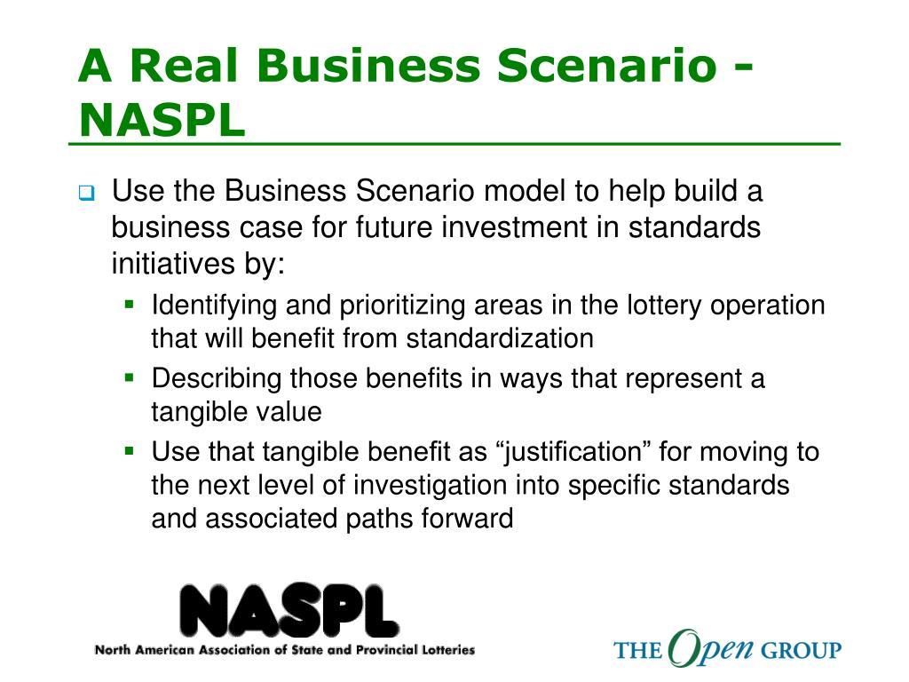 A Real Business Scenario - NASPL