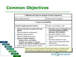 common objectives