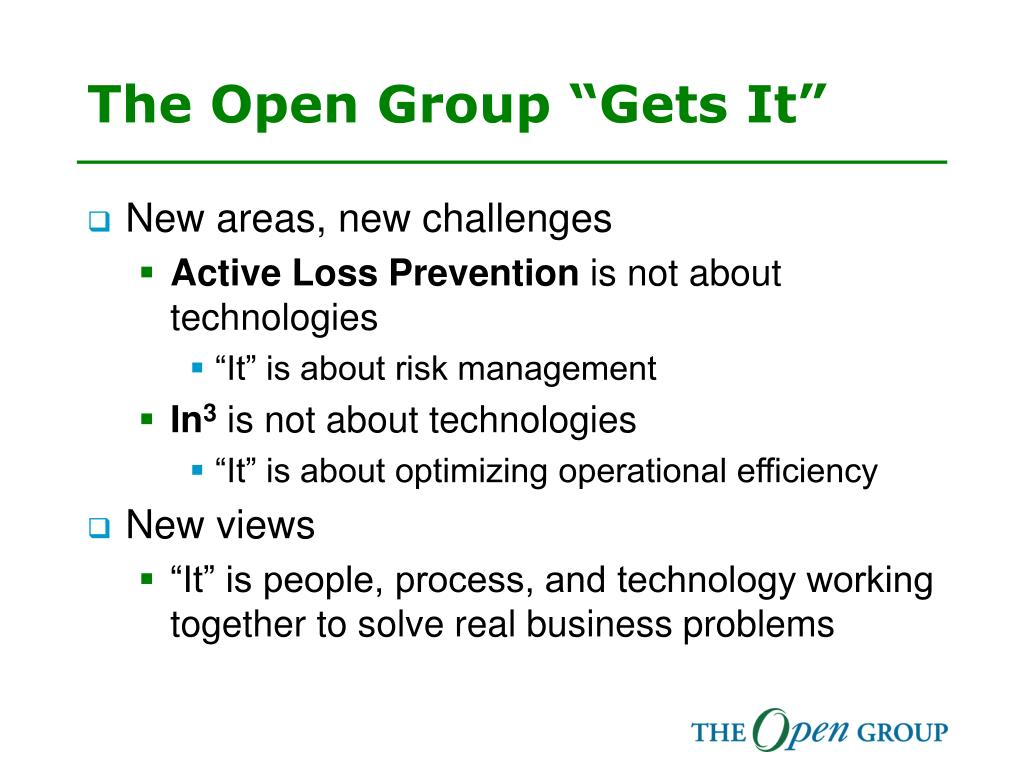 "The Open Group ""Gets It"""