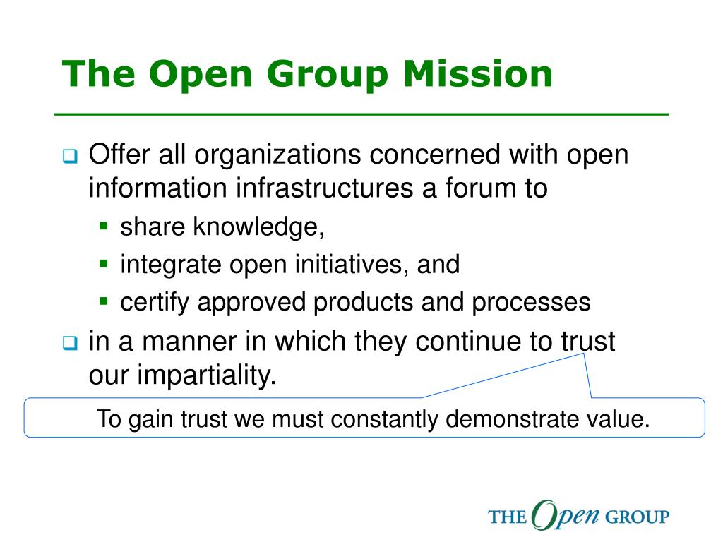 The Open Group Mission