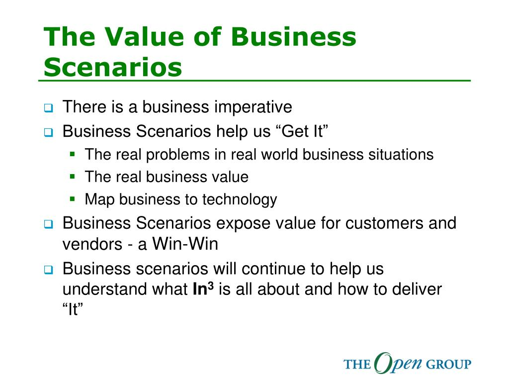 The Value of Business Scenarios