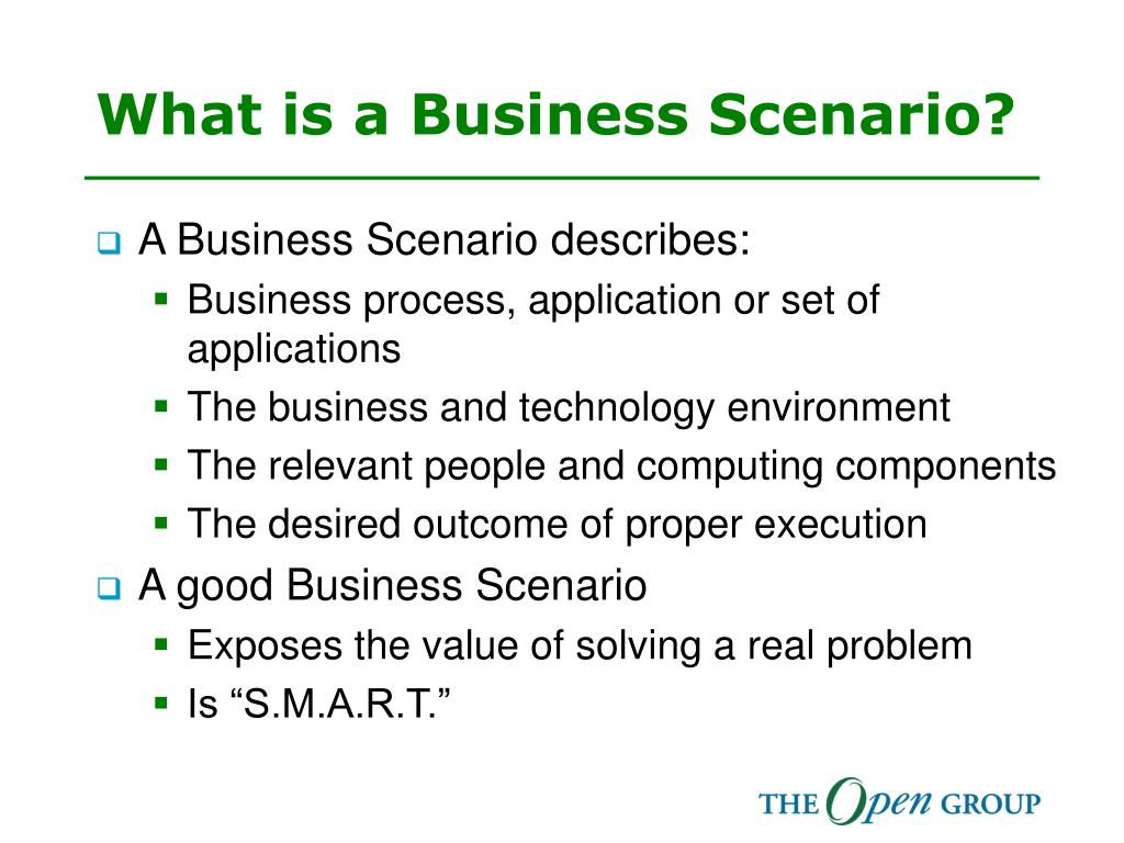 What is a Business Scenario?