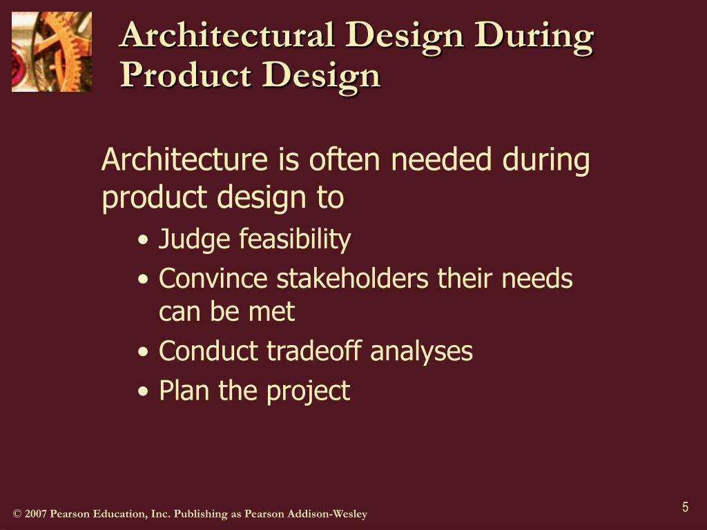 Architectural Design During Product Design