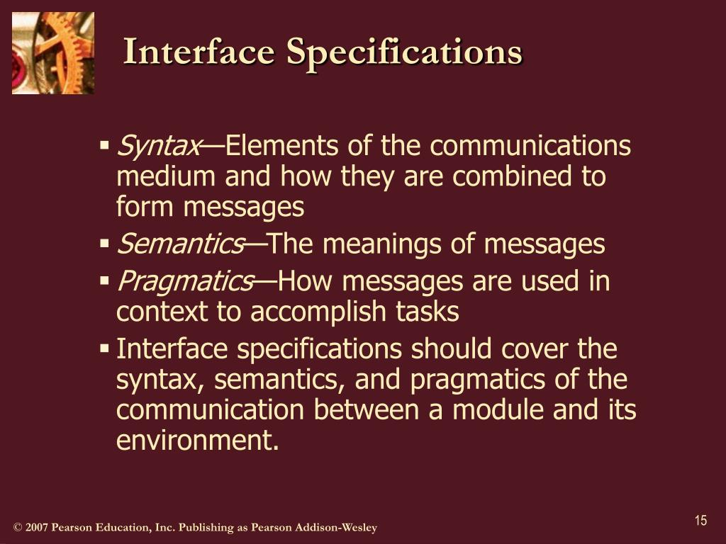 Interface Specifications