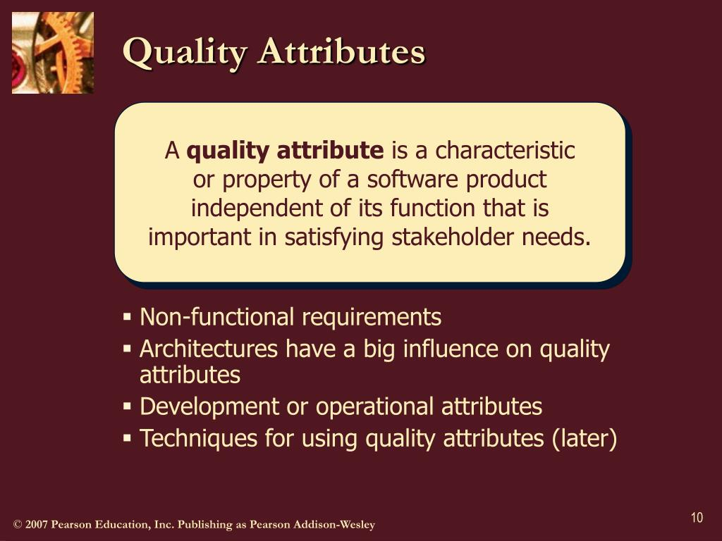 Quality Attributes