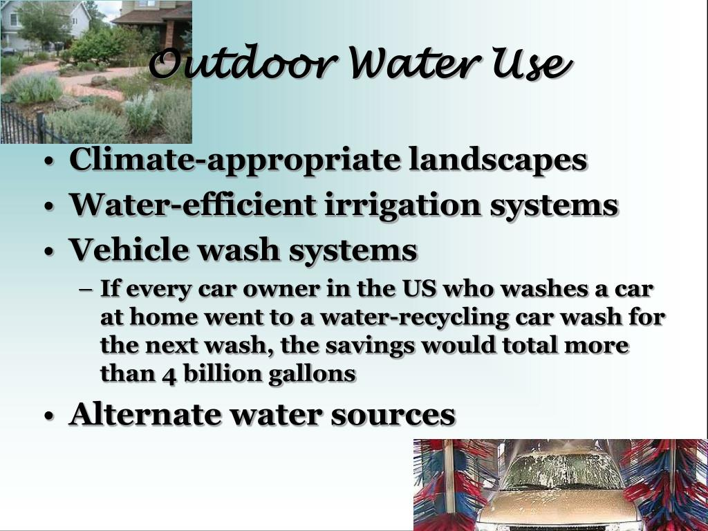 Outdoor Water Use