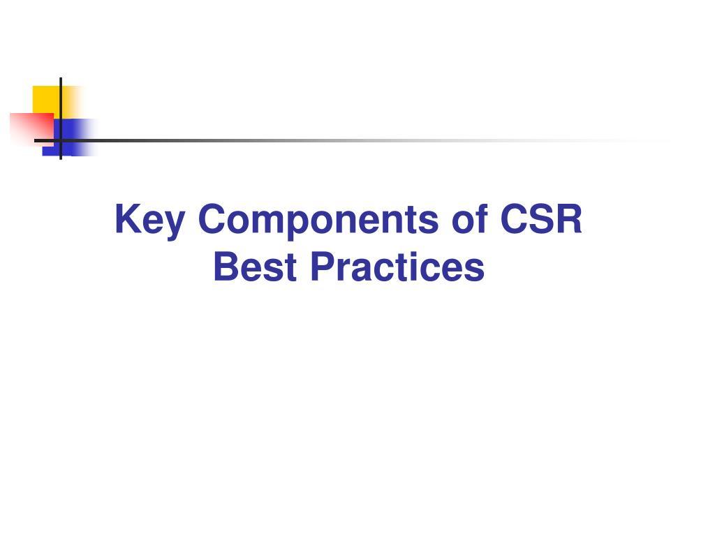 Key Components of CSR