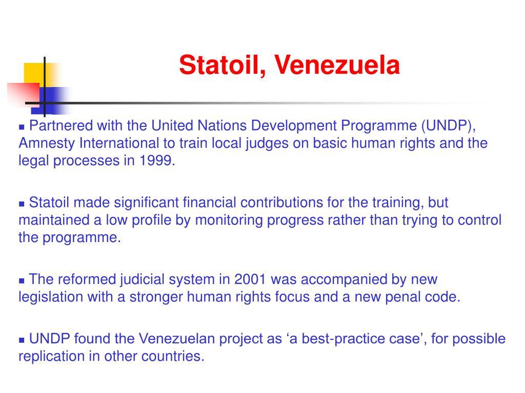 Statoil, Venezuela