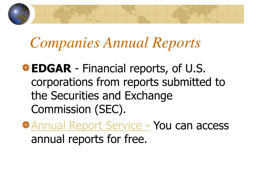 Companies Annual Reports