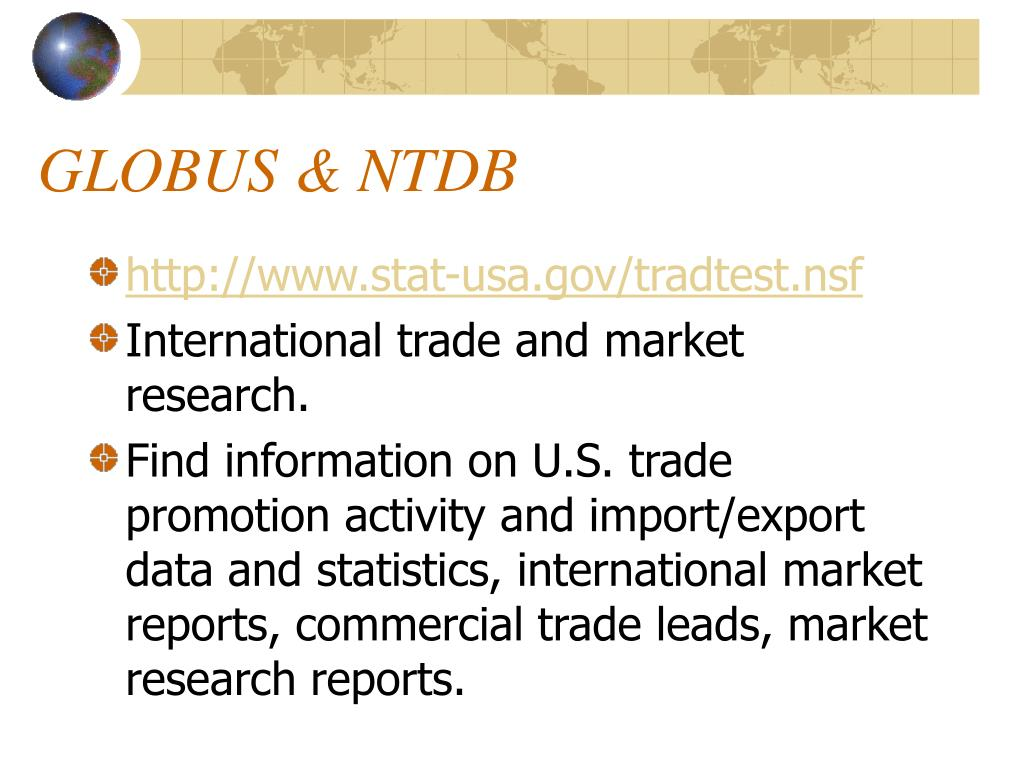 GLOBUS & NTDB