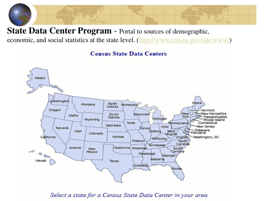 State Data Center Program