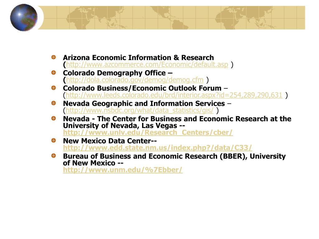 Arizona Economic Information & Research (