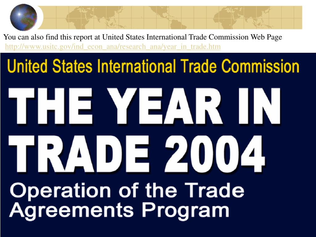 You can also find this report at United States International Trade Commission Web Page