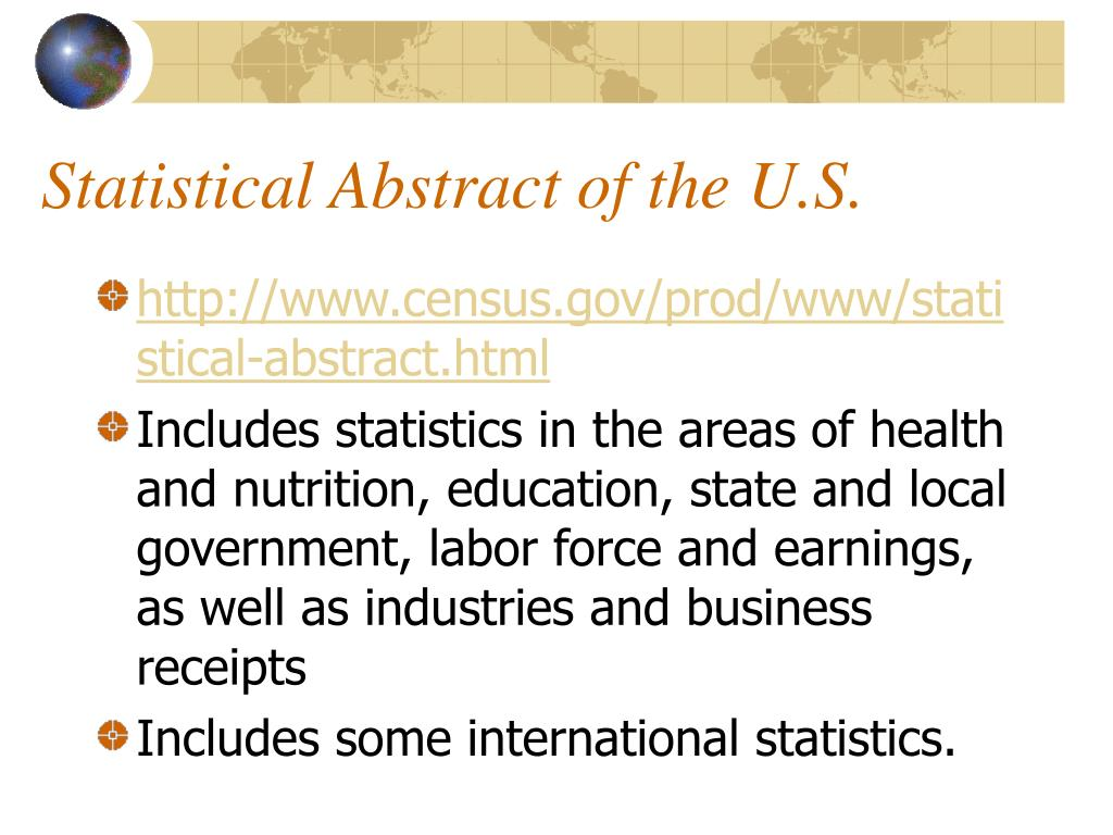 Statistical Abstract of the U.S.
