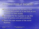 eu condition of success