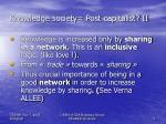 knowledge society post capitalist ii