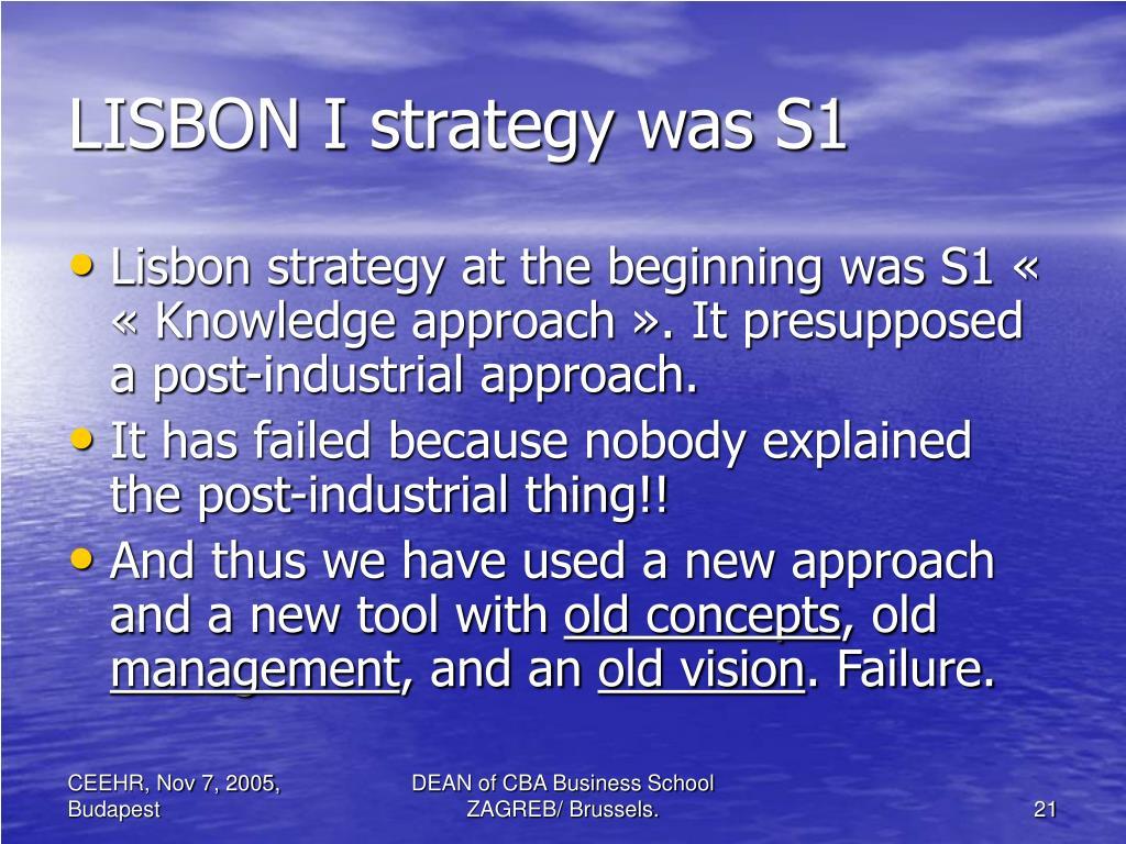 LISBON I strategy was S1