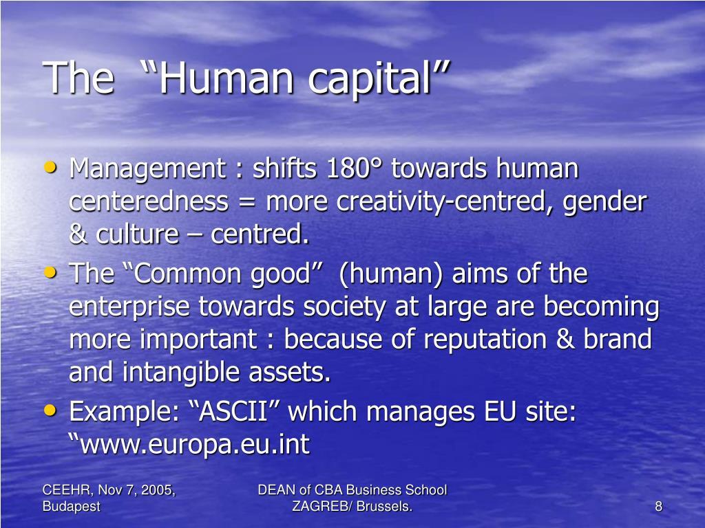 "The  ""Human capital"""