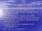 the human capital