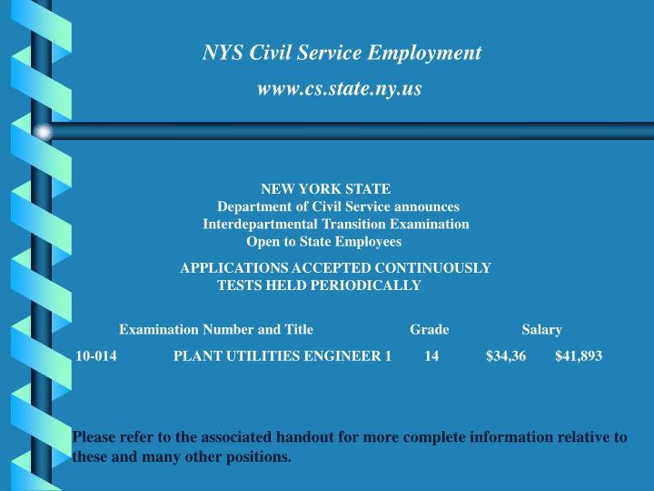 NYS Civil Service Employment