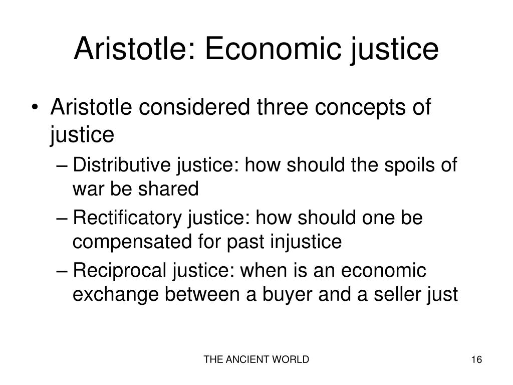 Aristotle: Economic justice