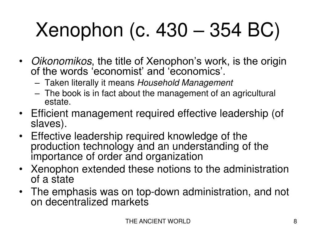 Xenophon (c. 430 – 354 BC)