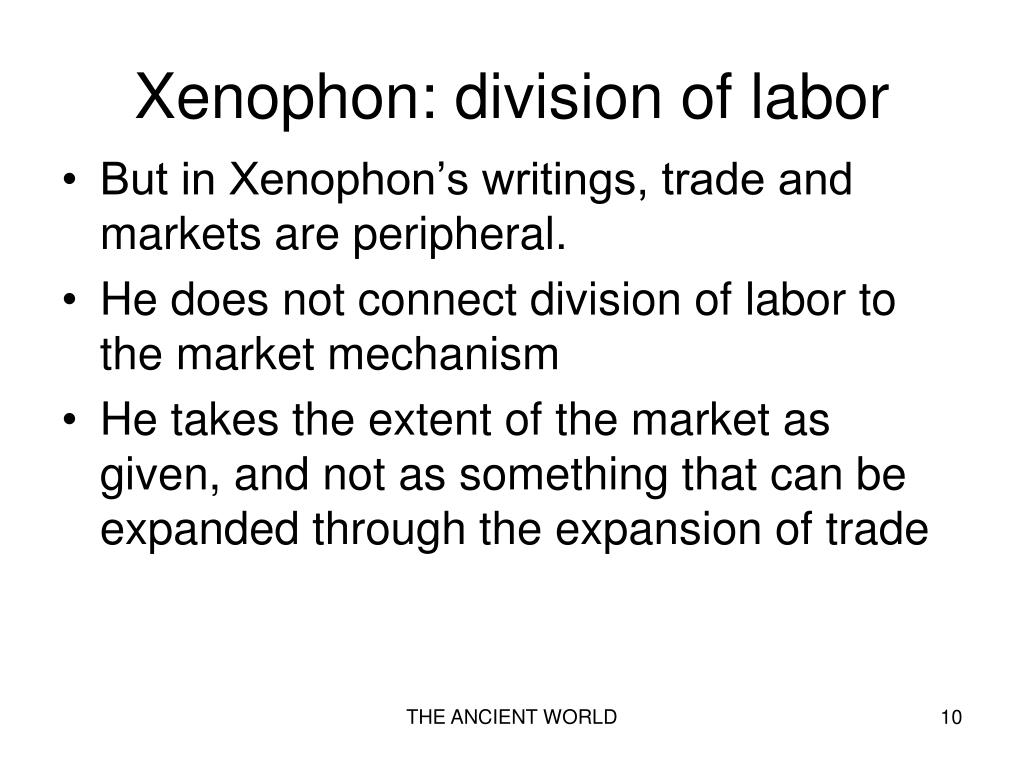 Xenophon: division of labor