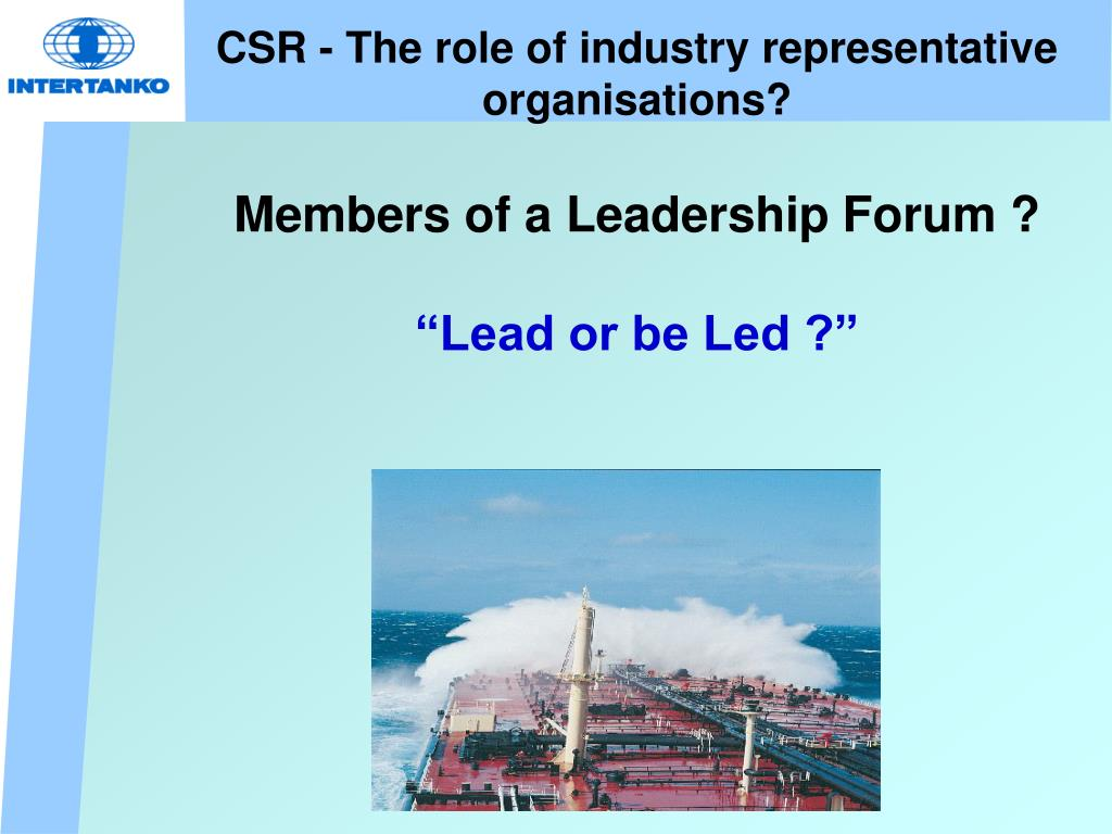 CSR - The role of industry representative organisations?